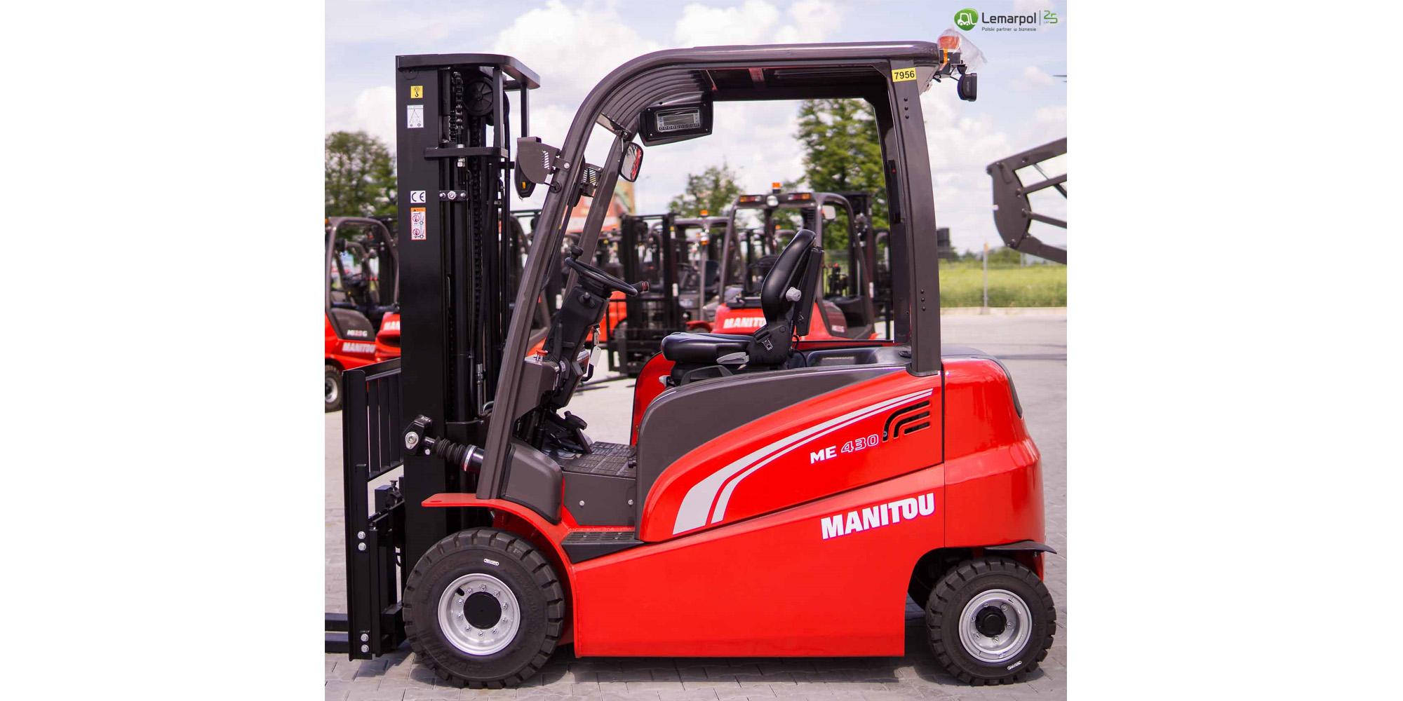 Wózek widłowy elektryczny Manitou ME 430
